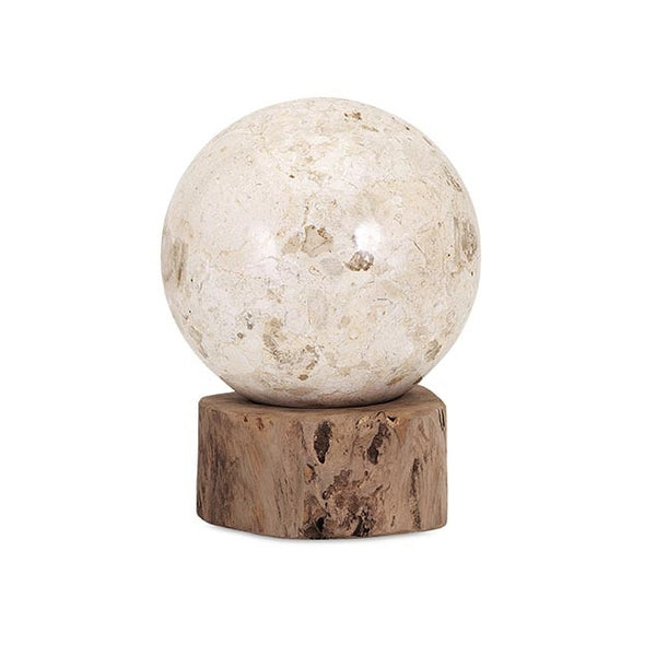 Marble Ball on Teak Wood Statuary