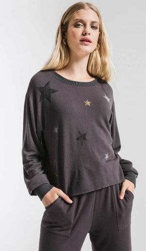 Z SUPPLY FOILED STAR PULLOVER