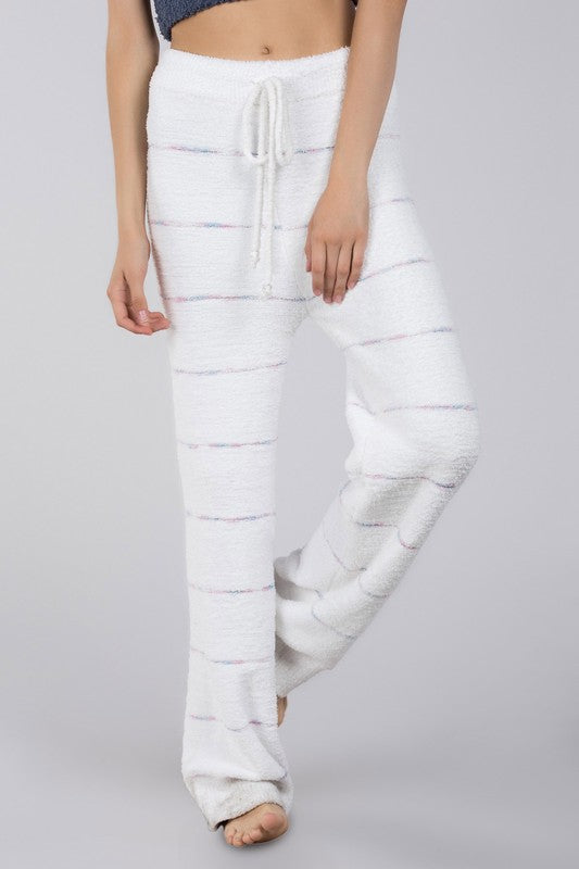 BERBER STRIPED FLEECE LOUNGE PANT
