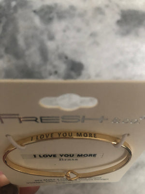 I LOVE YOU MORE BANGLE BRACELET