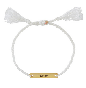 LOVE NOTES BRACELET - WIFEY