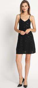 STRETCHED SEQUIN KINT A-LINE DRESS
