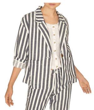 SUNRISE STRIPED SOFT BLAZER