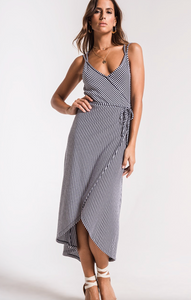THE CAPRI WRAP MIDI DRESS