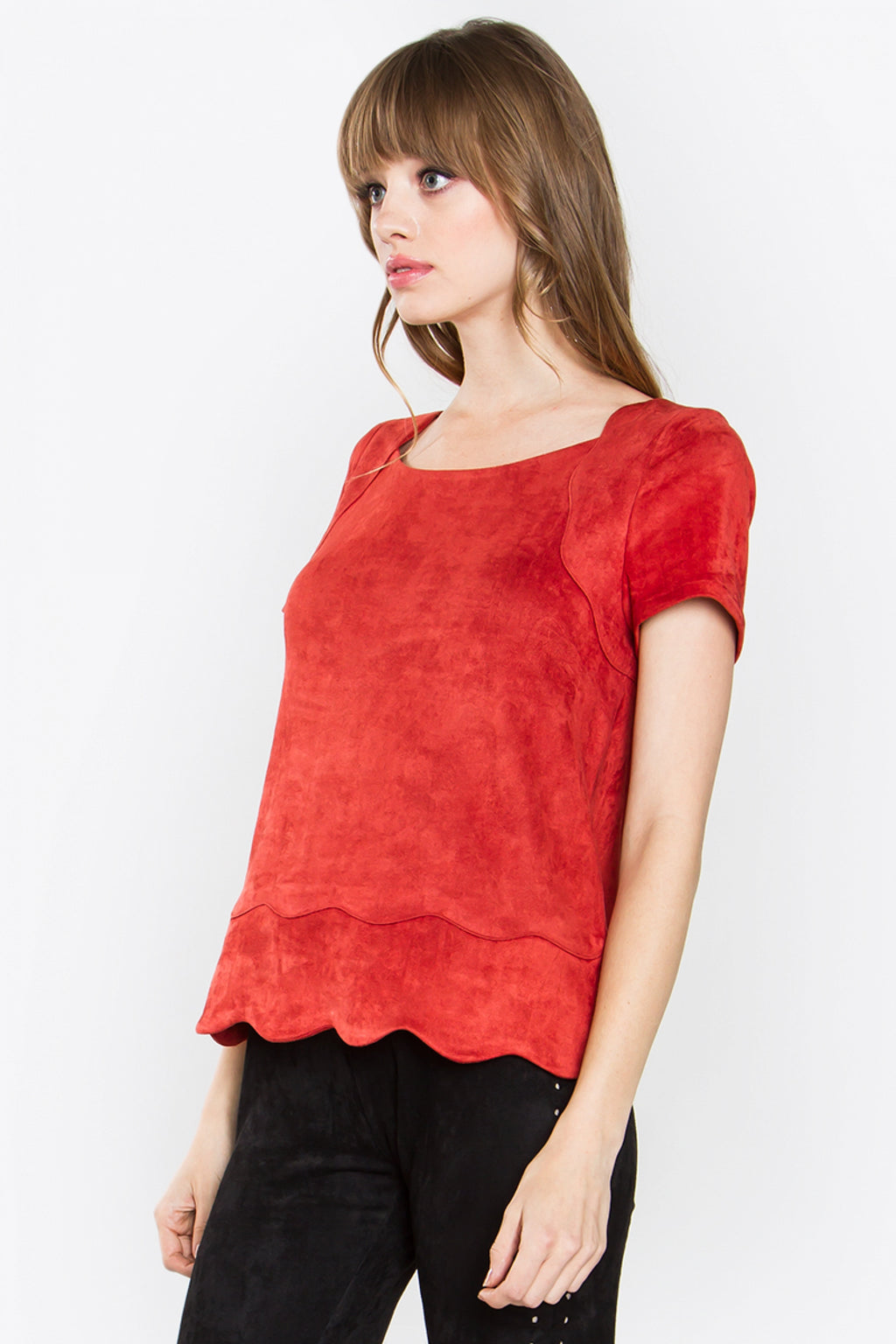 VALERIA SUEDE TOP