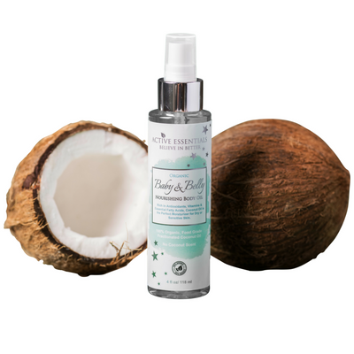 Baby & Belly Oil with 100% Organic, Food-Grade Coconut Oil