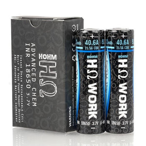 Hohm Tech Work 18650 2531mAh 40.6A Battery (2 Pack)