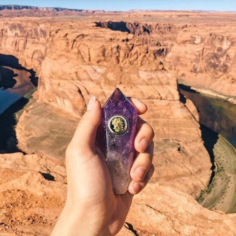 Amethyst Natural Healing Crystal Pipe!