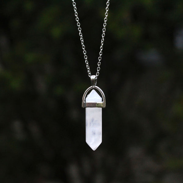 Rose Quartz Natural Healing Crystal Necklace!