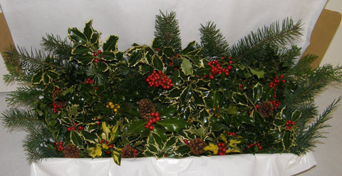 1R - REINDEER - Mixed Evergreens with Holly