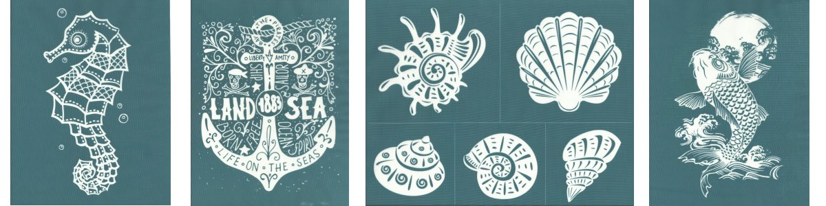 Ready-To-Use Stencils: Nautical