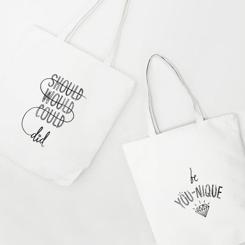 DIY Screen Printed Inspirational Totebags