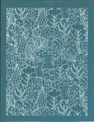 Doodle Forest Pattern Designer Ceramic Silk Screen Stencil