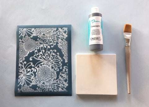 DIY Screen Printing Ceramic Bisque Tile