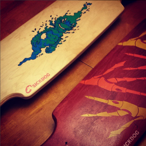 DIY Custom Screen Printed Skateboards