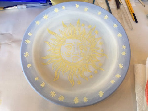 DIY Screen Printing Ceramic Plate