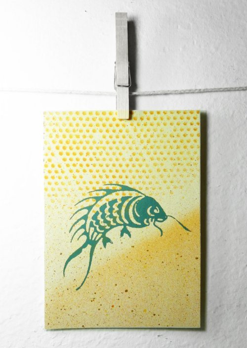 DIY At Home Screen Printing for Paper Cards