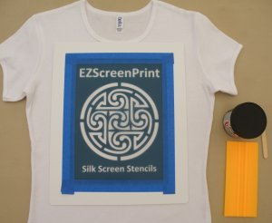 DIY Custom Shirt Silkscreening
