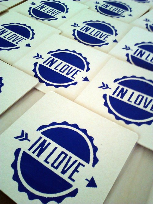 DIY Personalized Screen Printed Wedding Coasters