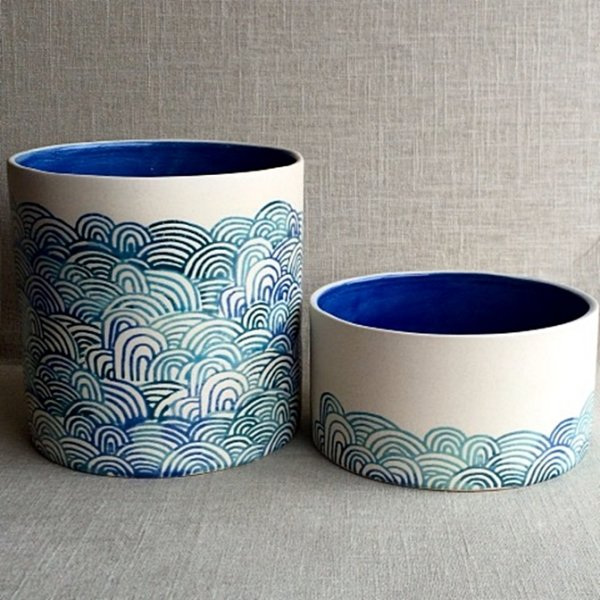DIY Screen Printing on Ceramic Planters