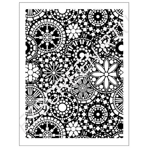 DIY Screen Printing Abstract Cogs Silk Screen Stencil