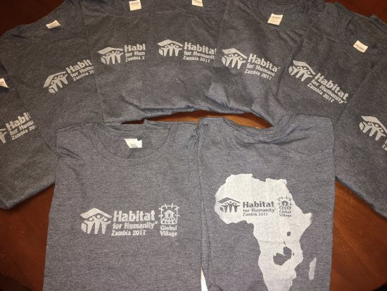 DIY Screen Printed Habitat for Humanity T-Shirt