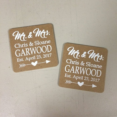 DIY Screen Printed Wedding Coasters