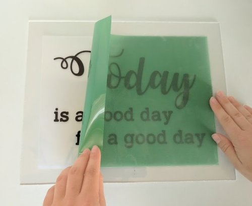 DIY Screen Printing - Center Stencil on Transparency