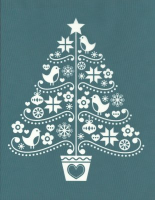 DIY Silk Screening Christmas Stencil Folk Art Tree