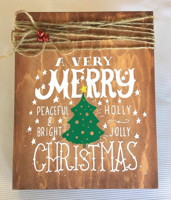 diy screen printing - Christmas Wooden Signs