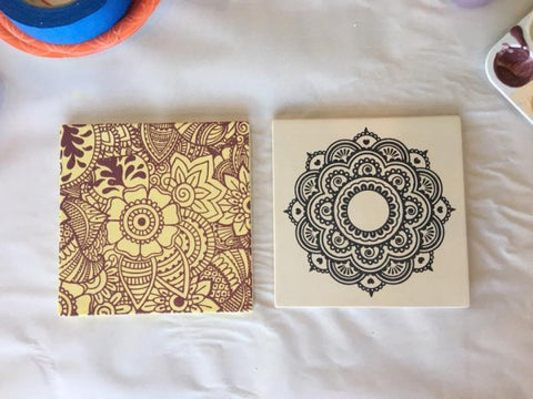 DIY Screen Printing Ceramic Tiles