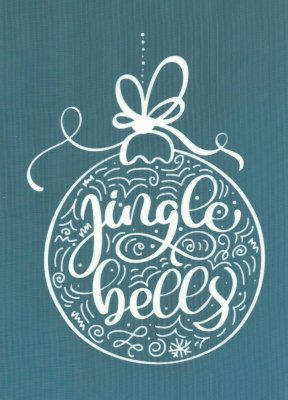 DIY Christmas Design Silkscreen Stencil Jingle Bells Ornament
