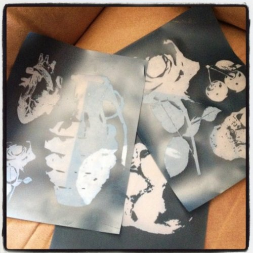 DIY Silk Screen Stencils Ceramic