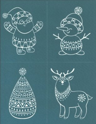 Ready To Use Christmas Collection Design Silkscreen Stencil