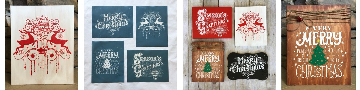 Ready-To-Use CHRISTMAS Silk Screen Stencils