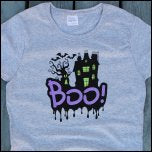 DIY Screen Printed Halloween BOO T-Shirt