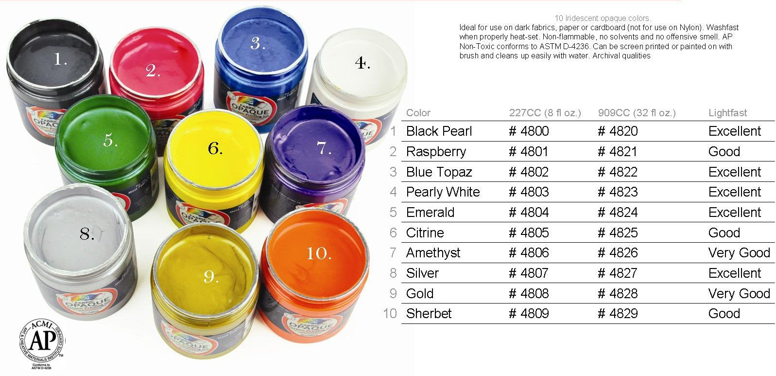 speedball opaque screen printing inks color chart - Printing Color