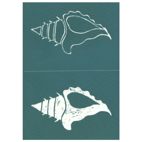DIY Designer Screen Print Stencil, Horse Conch Shell