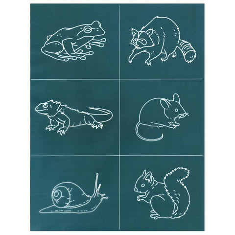 DIY Ceramic Silk Screen Print Stencil, Small Critters Animals Design