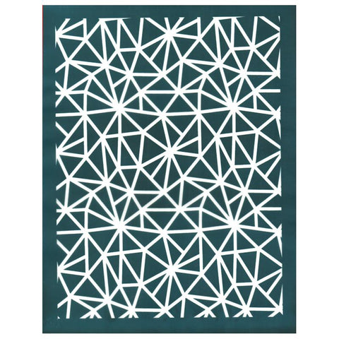 Mosaic Fragment Pattern Silk Screen Stencil Design