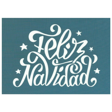 Feliz Navidad Merry Christmas Script Silk Screen Stencil