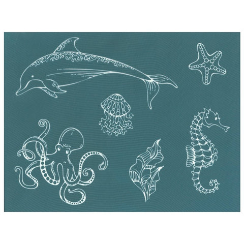 DIY Designer Silk screening Stencil, Ocean Animals Sea Life