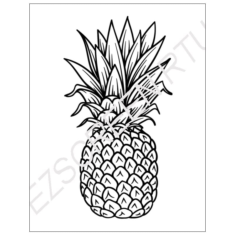 Fruits Pineapple Various Sizes