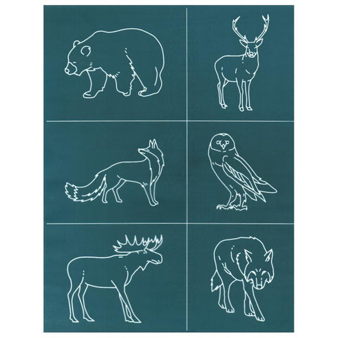 DIY Silk Screening Design Stencil Forest Animals Set