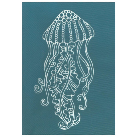 DIY Screen Printing At Home Silk Screen Stencil Ocean Sea Life Jellyfish