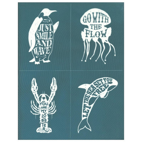 Inspiration Animal Quotes Designer Silkscreen Stencil