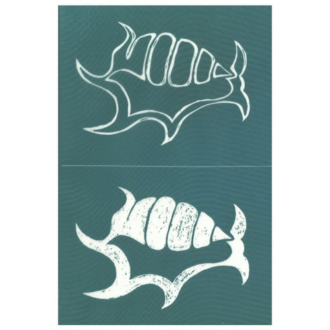 DIY Screen Printing Spider Conch Shell Stencil Design