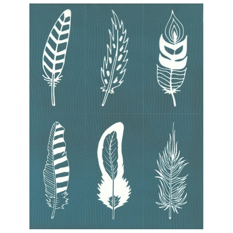 DIY Ceramic Screen Printing Stencil Feathers Design