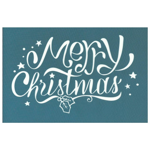 DIY Merry Christmas Script Design Stencil
