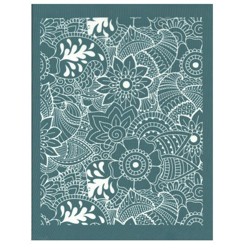 DIY Screen Printing At Home Silk Screen Stencil Hand Drawn Flowers Design